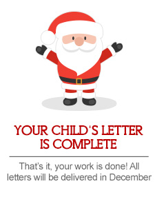 your child's christmas letter from santa is complete